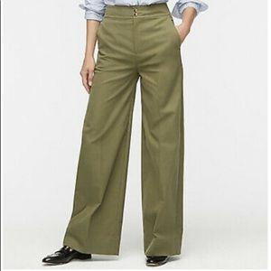 J. Crew olive green Frankie pant in stretch twill size 6